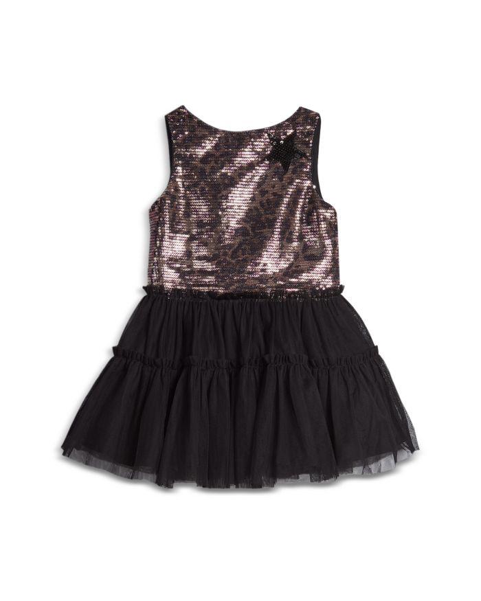 Pippa & Julie Girls' Leopard Sequin Ruffle Skirt Dress - Baby    Bloomingdale's