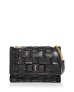 Salvatore Ferragamo - Viva Woven Leather Shoulder Bag