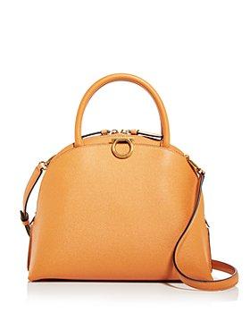 Salvatore Ferragamo - Double Handle Leather Shoulder Bag