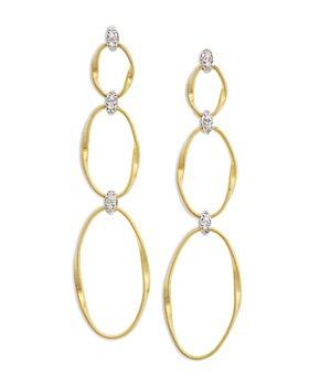 Marco Bicego - 18K Yellow Gold Onde Triple Link Post Earrings