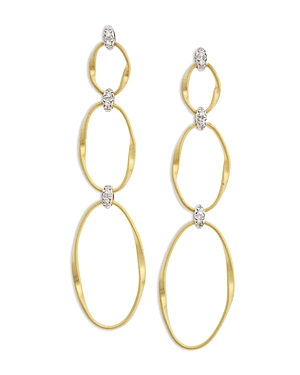 Marco Bicego 18K Yellow Gold Onde Triple Link Post Earrings-Jewelry & Accessories