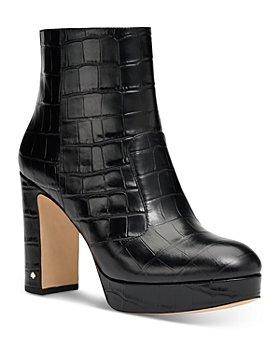 kate spade new york - Women's Barrett Embossed Leather High Heel Booties