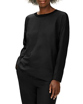 Eileen Fisher Petites - Long-Sleeve Crewneck Top