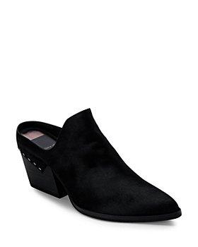 Dolce Vita - Women's Lindsy Almond Toe Mid Heel Leather Mules