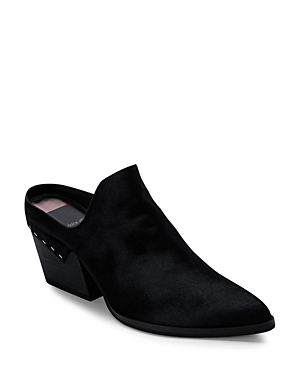 Dolce Vita WOMEN'S LINDSY ALMOND TOE MID HEEL LEATHER MULES