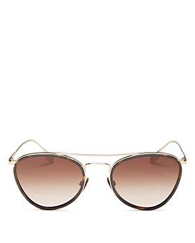 Burberry - Women's Brow Bar Aviator Sunglasses, 51mm