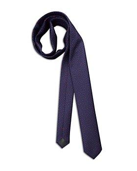 HUGO - Silk Tossed Geometric Skinny Tie