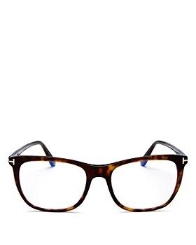 Tom Ford - Women's Square Blue Light Glasses, 54mm