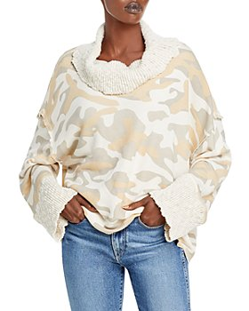 Vintage Havana - Camo Print Cowl Neck Sweater