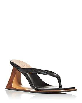 Marni - Women's Cutout Wedge Thong Sandals