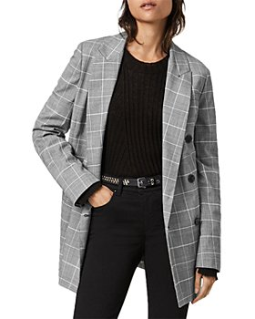 ALLSAINTS - Astrid Plaid Double Breasted Blazer