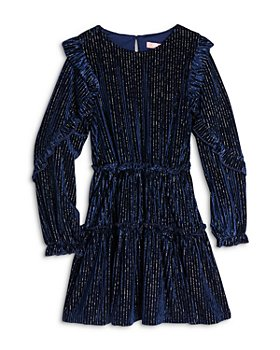 BCBG GIRLS - Girls' Metallic Velvet Corduroy Dress - Little Kid,Big Kid
