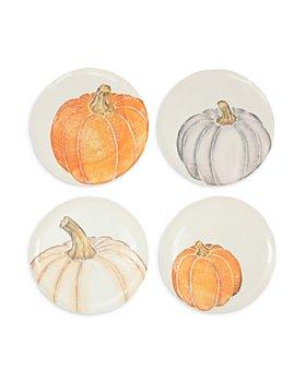 VIETRI - Pumpkins Assorted Salad Plates, Set of 4
