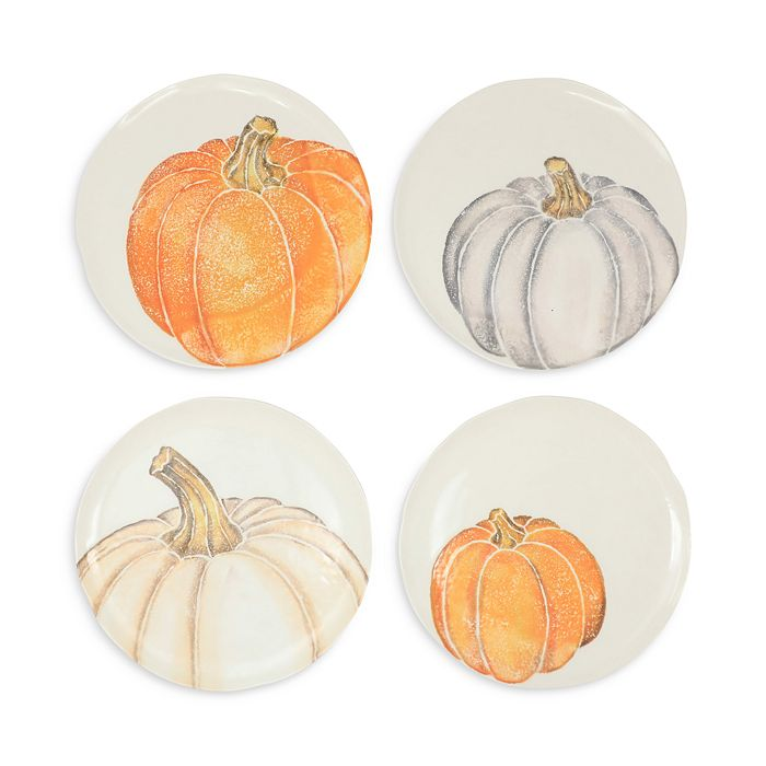 VIETRI - Pumpkins Assorted Salad Plates, Set of 4