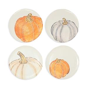 Vietri Pumpkins Assorted Salad Plates, Set of 4-Home