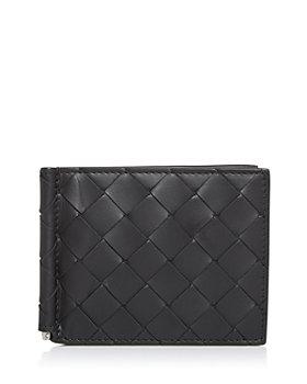 Bottega Veneta - Woven Leather Bifold Money Clip Wallet