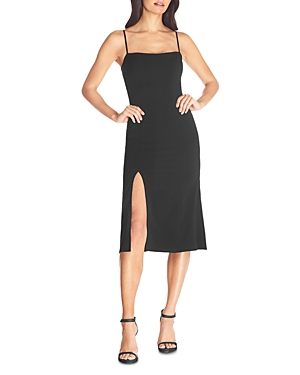 Size & Fit Fits true to size, order your normal size Mid-stretch fabric Designed to hit at mid calf Approx. 46 from back of neck shoulder to hem, based on a size 2 Model measurements: 5\\\'10 height, 33.5 bust, 23.5 waist, 34.5 hips, wearing a size 2 Features