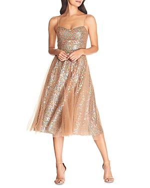 Dress the Population Ensley Sequined Dress-Women