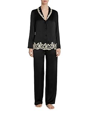 La Perla Maison Embroidered Silk Pajama Set