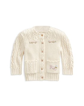 Ralph Lauren - Girls' Floral Motif Cardigan - Baby