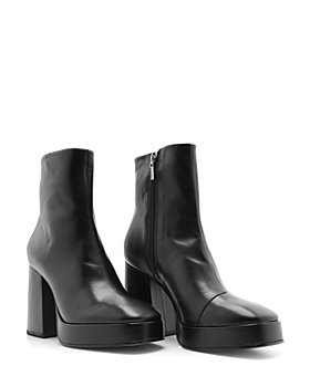 SCHUTZ - Women's Carys High Heel Leather Booties