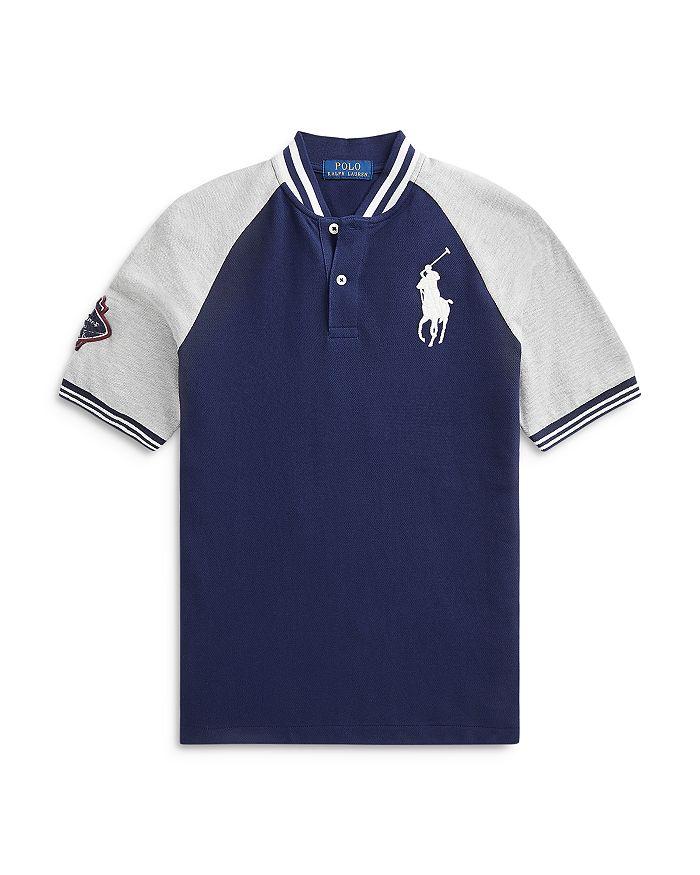 Ralph Lauren - Boys' Baseball Style Cotton Polo Shirt - Big Kid
