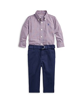 Ralph Lauren - Boys' Plaid Poplin Shirt & Chino Pants Set - Baby