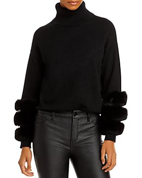 AQUA - Faux Fur Sleeve Sweater - 100% Exclusive