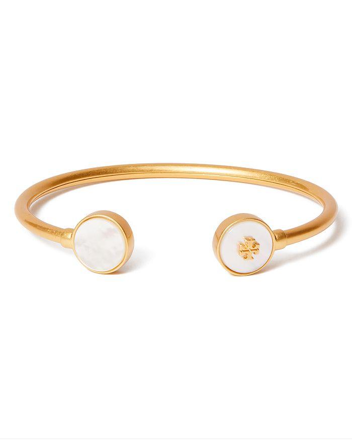 Tory Burch - Kira Mother of Pearl Logo Cuff Bracelet
