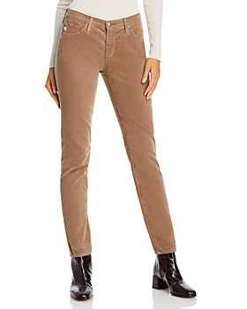 AG - Mid Rise Cigarette Corduroy Straight Leg Jeans in New Cork