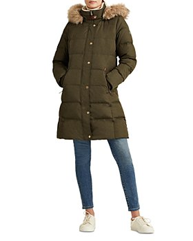 Ralph Lauren - Hooded Faux Fur Trim Down Puffer Coat