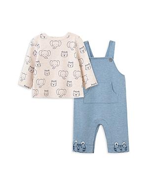 Little Me Boys\\\' Animal Print Tee & Overalls Set - Baby-Kids