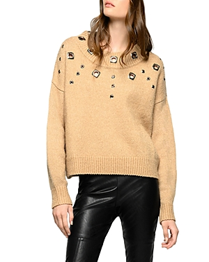 Pinko Boxy Pullover Sweater-Women