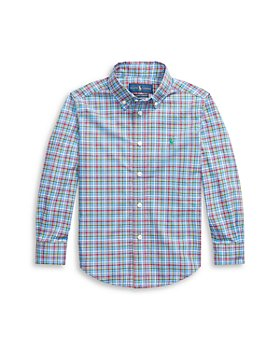 Ralph Lauren - oys' Plaid Button Down Shirt - Little Kid, Big Kid