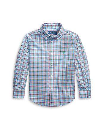 Ralph Lauren - Boys' Plaid Button Down Shirt - Little Kid