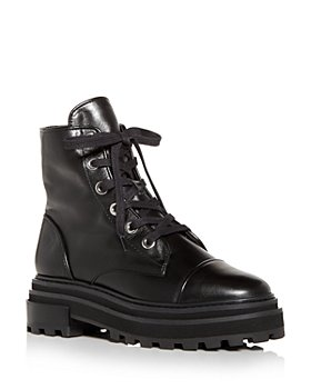 SCHUTZ - Women's Maylova Block Heel Platform Combat Boots