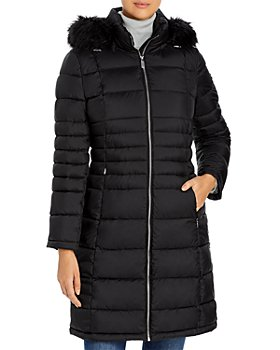 Calvin Klein - Hooded Faux Fur Trim Puffer Coat