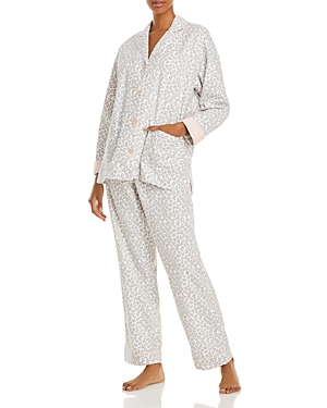 Pj Salvage Printed Flannel Pajama Set-Women