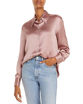 Vince - Silk Button Front Blouse
