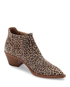 Dolce Vita - Women's Shana Pointed Toe Leather & Calf Hair Booties