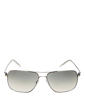 Oliver Peoples - Unisex Clifton Brow Bar Square Sunglasses, 58mm