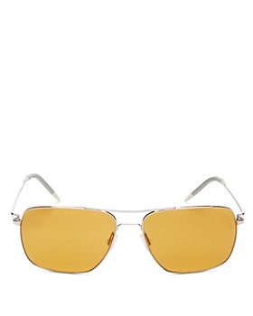 Oliver Peoples - Unisex Clifton Polarized Brow Bar Square Sunglasses, 58mm
