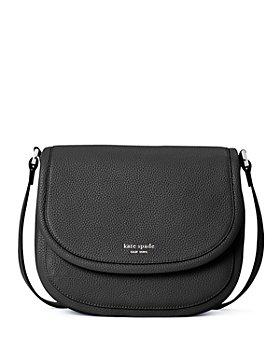 kate spade new york - Roulette Medium Pebbled Leather Saddle Bag