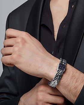 JOHN HARDY - Men's Sterling Silver Classic Multicolor Sapphire Chain Bracelet