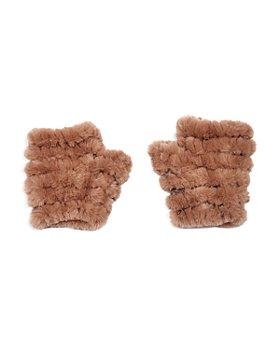 Jocelyn - Mandy Faux Fur Knit Mittens