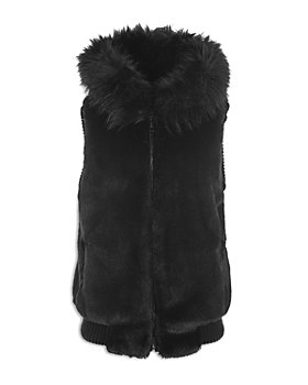 Jocelyn - Hooded Faux Fur Bomber Vest