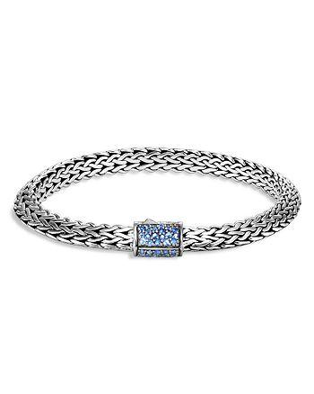 JOHN HARDY - Sterling Silver Classic Blue Sapphire Chain Bracelet