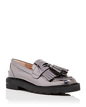 Stuart Weitzman - Mila Kiltie Fringe Platform Loafers