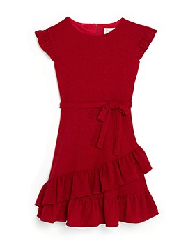 US Angels - Girls' Capped Sleeve Sparkle Dress - Big Kid