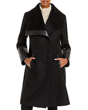 Via Spiga Asymmetrical Wing Collar Coat-Women